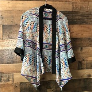 Cato Waterfall Open Front Lightweight Cardigan